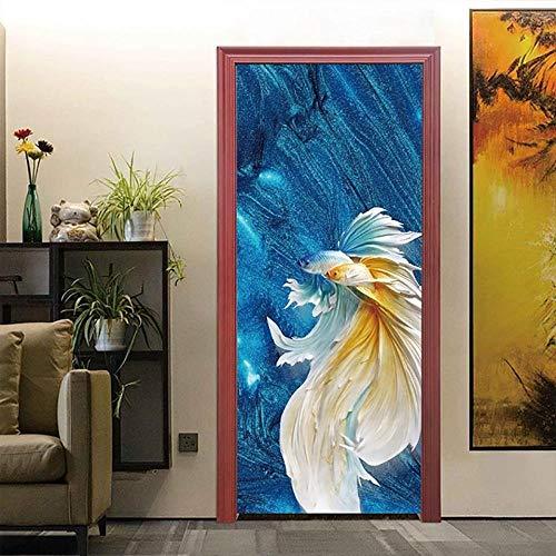 Diopn Zelfklevende deurstickers, zelfklevend, voor knutselen, landschap, potloden, zelfklevend, voor ingang, waterdicht, decoratie voor huis, decoratie, 3D (77 x 200 cm)