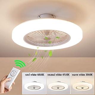Luz del ventilador de techo, moderna LED Ventilador de techo, LED ventilador Lámpara de Techo con luz Y mando a distancia ventilador LuzdeTecho Restaurante Plafones dormitorio Iluminacióndetecho