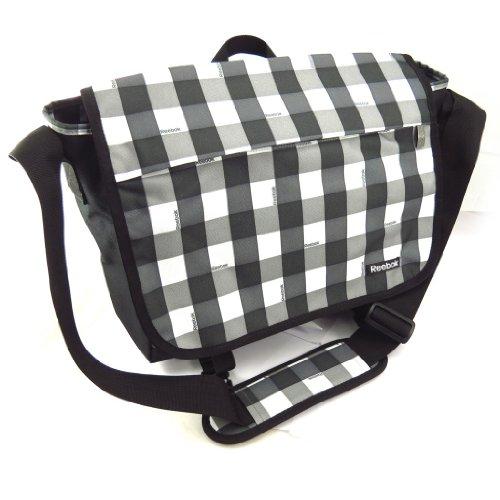 La bolsa de mensajero 'Reebok' gris negro (equipo especial).