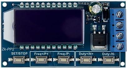 TeOhk MóDulo de Control de Velocidad de AtenuacióN PWM de Alta Potencia con Dos Modos (Modo PWM, Modo De Pulso PULSO) y BotóN de Parada