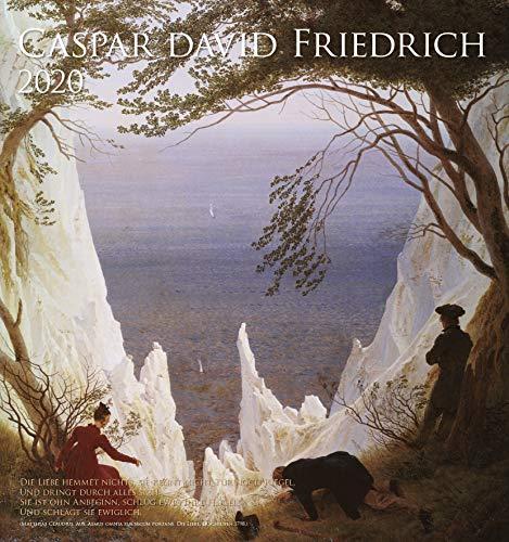 Caspar David Friedrich - Kalender 2020 - teNeues-Verlag - Kunstkalender - Wandkalender mit frühromantischen Gemälden und Gedichten - 45 cm x 48 cm