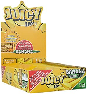 JUICY JAY'S FLAVORED PAPERS 32 LEAVES 1 1/4 BANANA FLAVOR PACK OF 24