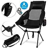 Kesser® Campingstuhl faltbar klappbar mit hoher Rückenlehne tragbar Angel Stuhl Camping Stuhl...