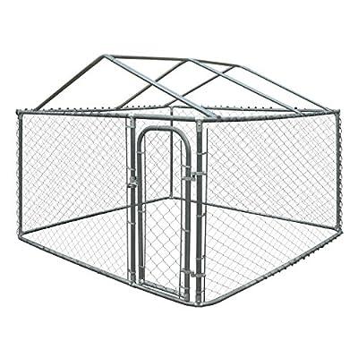 ALEKO DK13X7X6RF Pet System DIY Box Kennel with Roof Frame Dog Kennel Playpen Chicken Coop Hen House 13 x 7.5 x 6 Feet