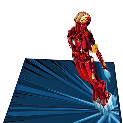 Lovepop Marvel Iron Man I Love You 3000 Pop Up Card - 3D Card, Father's Day Card, Card for Dad, Iron Man Card, Pop Up Birthday Card, Birthday Card for Dad