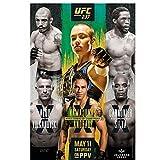 Namajunas VS Andrade Fight Event MMA UFC 237 Juego Pintura Art Poster Print Canvas Decoración para el hogar Picture Wall Print -50x70cm Sin marco