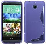 ENERGMiX Silikon Hülle kompatibel mit HTC Desire 510 Tasche Hülle Gummi Schutzhülle Zubehör in Violett
