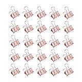Metal Clips de la Carpeta para Panel de Cuadrícula Fotográfica de Pared, Clips de Papel y Expediente, Casa Oficina y Cocina Accesorios & Organizador de Documentos 25mm (Oro Rosa, 24 Piezas)