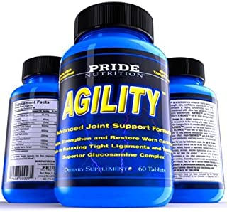 Joint Supplement with Glucosamine Chondroitin Sulfate and MSM for Stronger Joints Rheumatoid Arthritis Pain Reliever & Helps Rebuild Torn Ligaments & Cartilage Pride Nutrition Agility 60 Pills