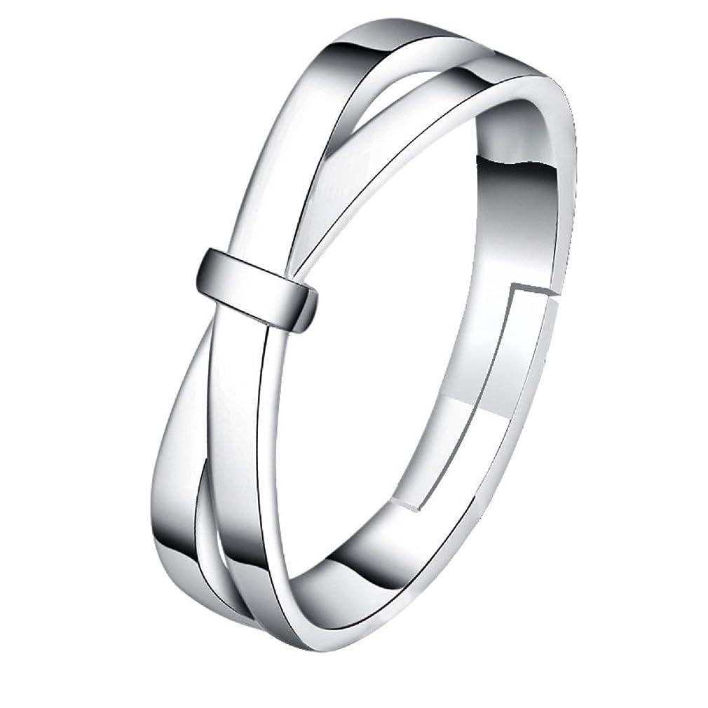 系統的マガジン加入Showmee - 弓が付いている銀メッキのリング、調節可能なサイズ