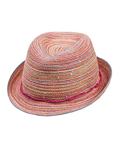 maximo Mädchen Hut Trilby, Mehrfarbig (Wollweiss/Multicolor 3899), Gr. 53
