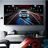 VVSUN Classic Cool Super Sports Car Sedan Racing Car Posters e Impresiones Pintura en Lienzo Imagen de Arte de Pared para decoración de Sala de Estar 60x120cm 24x48 Pulgadas Sin Marco