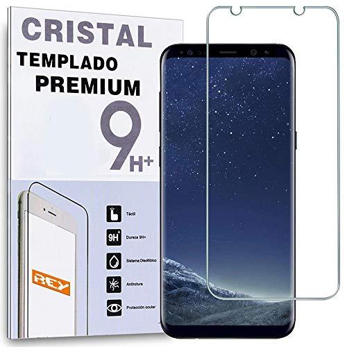 REY Protector de Pantalla para Samsung Galaxy S8 Plus, Cristal Vidrio Templado...