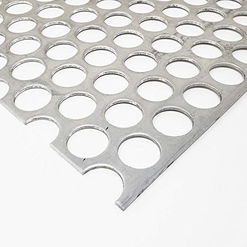 """Online Metal Supply Aluminum Perforated Sheet, 1/16"""" x 12"""" x 12"""" (1/4"""" Holes, 5/16"""" Centers)"""