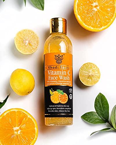 The Khadi Roots Vitamin C Facewash For Skin Brightening, Pigmentation, Acne Scars – No Parabens, Silicones, 200mL