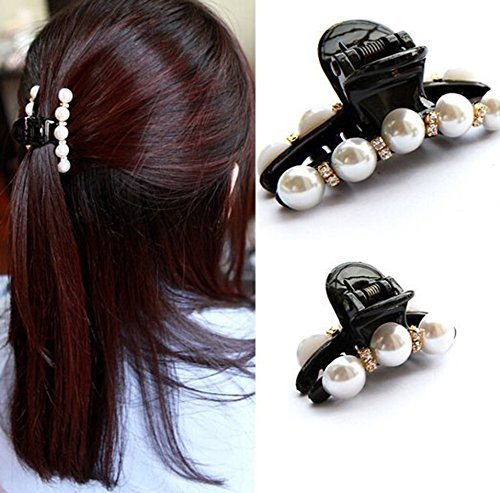 Pearl Hair Claw Clip  Slide    45mm x 45mm approx.