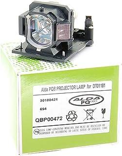 Alda PQ-Premium, beamerlamp/reservelamp voor HITACHI ED-A220N projectoren, lamp met behuizing