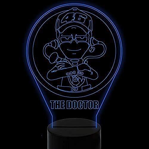 3D Night Light 3D Led Visual Night Light Gradient Doctor Modelling USB Handsome Desk Lamp Kids Touch Button Baby Sleep Lighting Decor