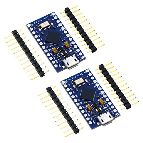 SING F LTD 2X Pro Micro Compatible with Arduino Atmega32U4 5V 16Mhz Compatible Board Free Pins