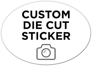 """125 Oval Custom Die Cut Stickers 7"""" x 5"""" for Laptops, Windows, Cell Phones, Cars. Upload Your own Image, Logo, or Design…"""