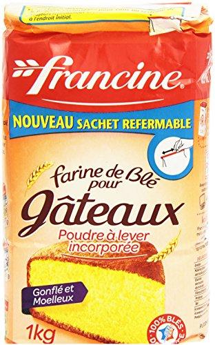 Francine Farine de Blé pourgteaux avec poudre à lever Incorporée, 1kg