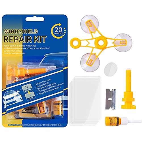 Auto Windschutzscheiben Reparaturset Werkzeug,Auto Windshield Glass Repair Kit,Auto Reparaturset für Windschutzscheiben,Windschutzscheibenwerkzeuge/Windshield Repair Kit für PKW Chip und Crack