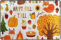 秋秋葉帽子Thansgiveingデイエリアリビングダイニングルーム用ラグラグベッドルームキッチン、2'x3'保育園ラグフロアカーペットヨガマット