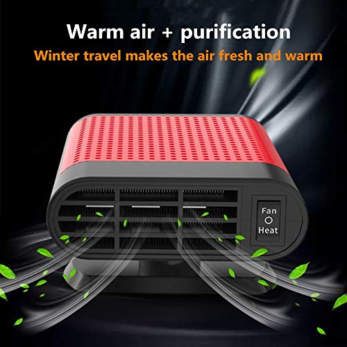 Auto Heizlüfter,150 Watt Automatische Auto Luftentfeuchter Elektrische Winter Herd Fan Abtauung Luftkühlung Integrierte Defrostereinstecken in zigarettenanzünder