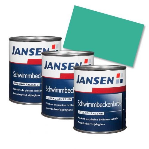 3 x Jansen Schwimmbeckenfarbe seegrün 0,75l