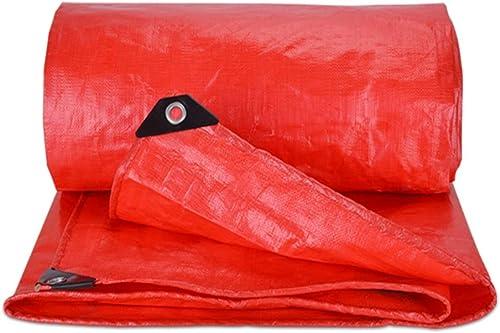 Bache en Plastique Imperméable à l'eau De Prougeection Solaire Imperméable Rouge De Poncho De Bache Imperméable Résistante (Taille   3x3m)