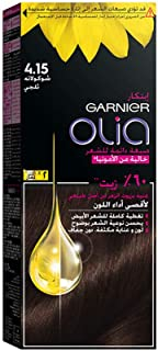 Garnier Olia, No Ammonia Permanent Hair Color With 60% Oils, 4.15 Iced Chocolate