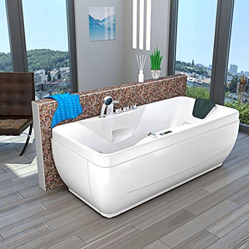 AcquaVapore Whirlpool Vollausstattung Pool Badewanne Wanne A1149-PR 170x80cm, Selfclean:aktive Schlauch-Reinigung +90.-EUR, Sonderfunktion1:ohne Heizung +0.-EUR