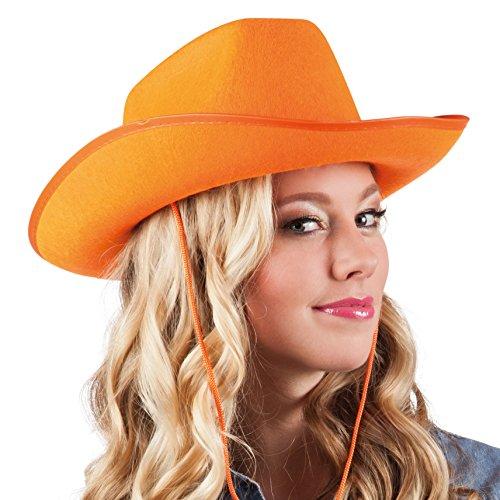 Boland 04073 - Hoed voor volwassenen Cowboy, één maat, oranje