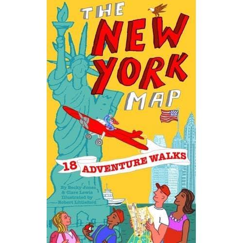 Cartoon Map Of New York City.New York Map Amazon Co Uk