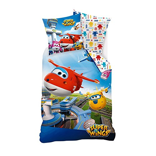 Duvet Cover superwings 200 cm and 1 Pillowcase 100% Cotton 63x63 cm
