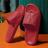 CCFF EVA Sandalias de Mujer, Zapatillas de Verano Suaves de Verano, baño Antideslizante con Forma Femenina-Gran Rojo_35-36, Pantuflas de Ducha para Hombres y Mujeres,