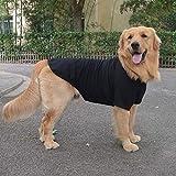 lovelonglong 2019 ropa para mascotas disfraces de perro básicas en blanco camiseta para perros medianos y grandes, negro XXXXL