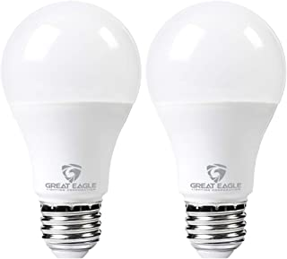 Great Eagle LED 23W Light Bulb (Replaces 150W – 200W) A21 Size with 2610 Lumens, Dimmable, 3000K Bright White, UL Listed (2-Pack)