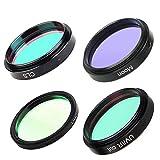 TSAUTOP Newest 1.25 '' Filtro UHC + CLS + Luna + UV/IR Cut filtros for la astronomía telescopio...