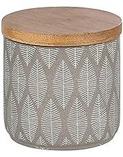 WENKO Universele doos Tupian grijs keramiek - cosmetische doos, wattenpot, keramiek, 10 x 10,5 x 10 cm, grijs