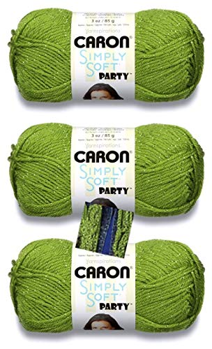 Caron Simply Soft Party Yarn 3 Pack With Pattern Spring Sparkle