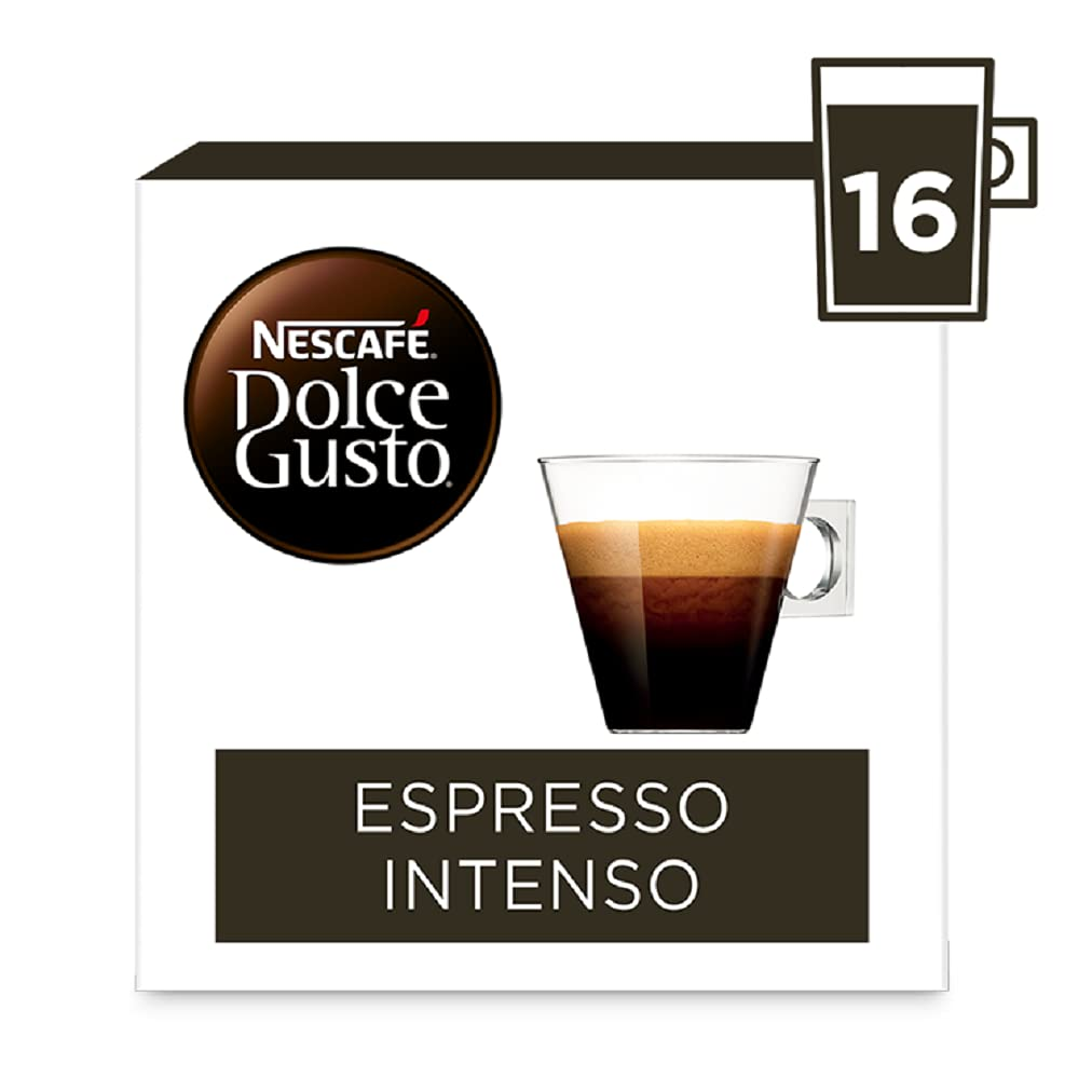 Nescafe Dolce Gusto Espresso Intenso Coffee Pods (Pack of 3, Total 48 Capsules)