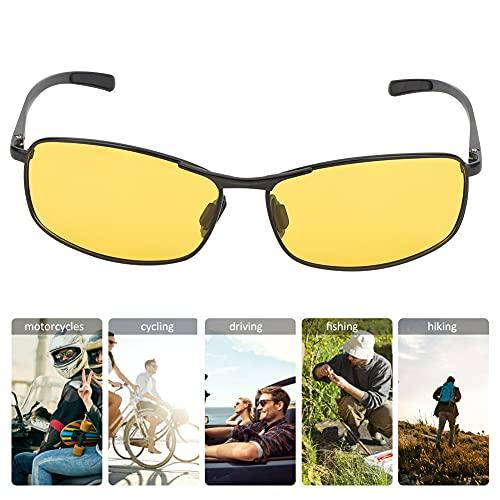 Amarillo Aluminio Magnesio Gafas de Sol, Color Claridad TAC y Aluminio Magnesio Metal 14x16x3.7cm Ojo Cepa por Exterior Deportes