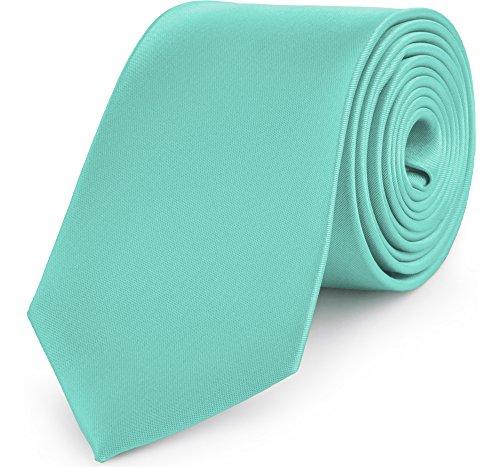 Ladeheid Corbatas Anchas Diversidad de Colores Accesorios Ropa Hombre KP-8 (150cm x 8cm, Menta)