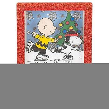 Charlie Brown & Snoopy Skating 6.25 Inch Acrylic Shadow Box Night Light