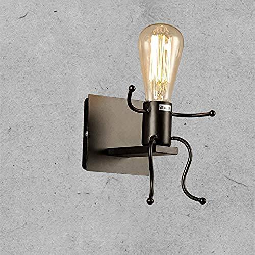 Industriële Retro Slaapkamer Creatieve Binnen Enkele Hoofd Metaal LED Nachtkastje Muur lamp