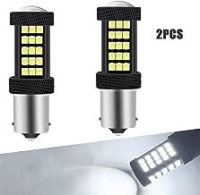 2 Unids Blanco 1156 BA15S P21W Coche Bombillas de luz LED Canbus 63 SMD 2835 Luz de marcha atrás muy brillante Luz de estacionamiento Freno Luces antiniebla traseras Posición Luz de cola 12V