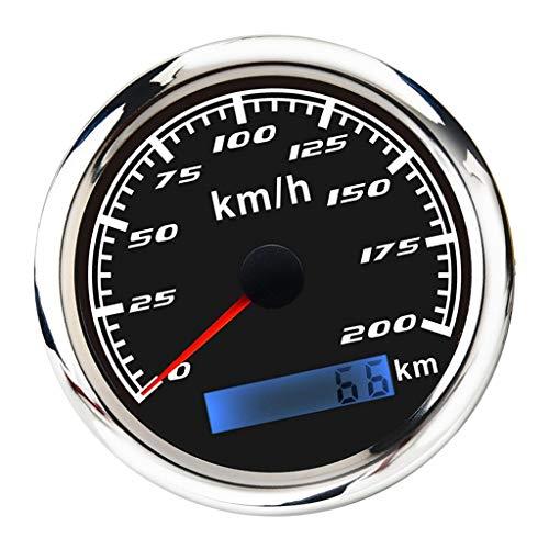 XIAOLUTIANM Medidor de velocímetro Velocímetro 85mm (3/8 '') GPS Calibrador de velocímetro 200 mph Odómetro Compatible con Canal DE TELEVISIÓN BRITÁNICO Barco Marino de la Motocicleta