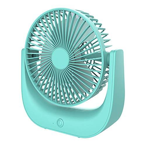 Lomelomme Ventilador de aire acondicionado portátil mini ventilador de 3 posiciones con batería USB, climatización fuera del tráfico, azul, Talla única