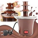 Fuente de chocolate de 3 niveles para Fondue Mini cascada para casa, cumpleaños, fiestas, regalos de boda